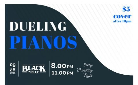 Dueling Pianos Black and Blue