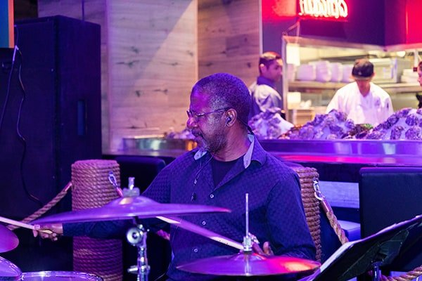 Black and Blue - Live Jazz Band Drummer playing drums