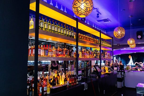 Black and Blue - Bar Area