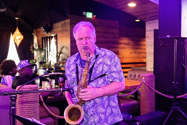 Black and Blue - Live Band Saxophonist playing saxophone