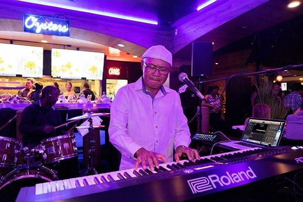 Black and Blue - Live Jazz Band Keyboardist playing keyboard